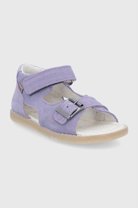 Mrugała - Sandale din piele intoarsa pentru copii lavanda