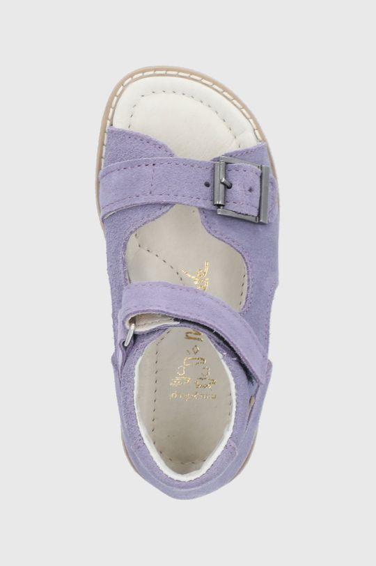 lavanda Mrugała - Sandale din piele intoarsa pentru copii