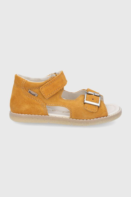 svetlo oranžová Mrugała - Detské semišové sandále Detský
