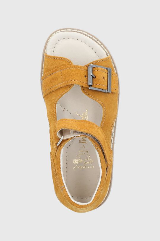 svetlo oranžová Mrugała - Detské semišové sandále