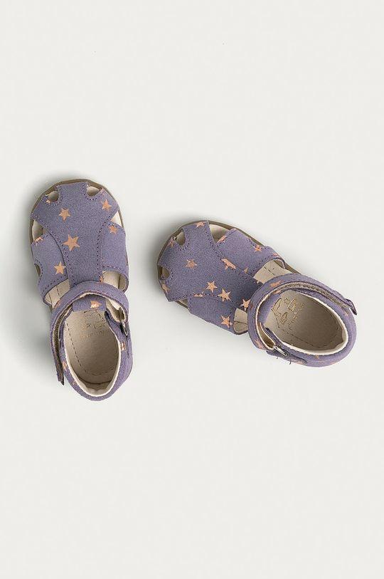 levandulová Mrugała - Dětské kožené sandály