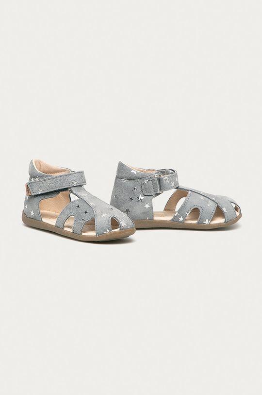 Mrugała - Dětské kožené sandály šedá
