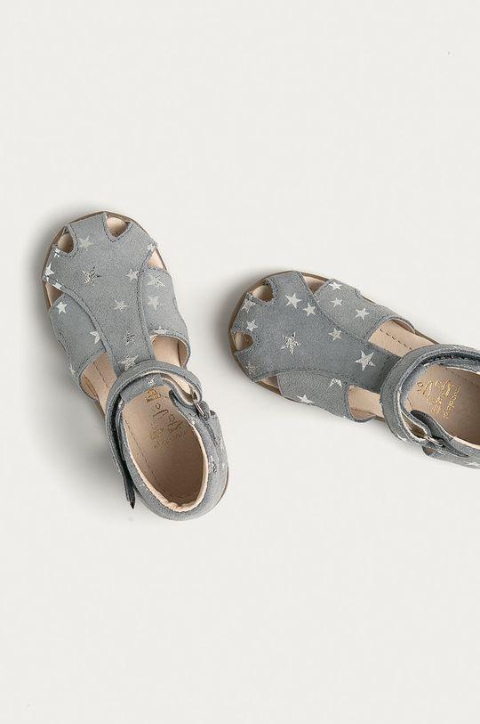 šedá Mrugała - Dětské kožené sandály