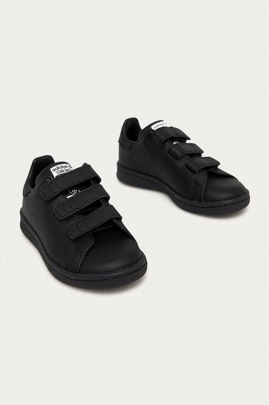 adidas Originals - Buty dziecięce STAN SMITH czarny