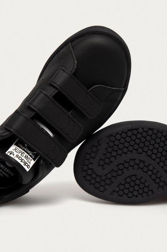 czarny adidas Originals - Buty dziecięce STAN SMITH