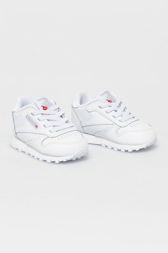 Reebok Classic - Buty dziecięce CL LTHR biały