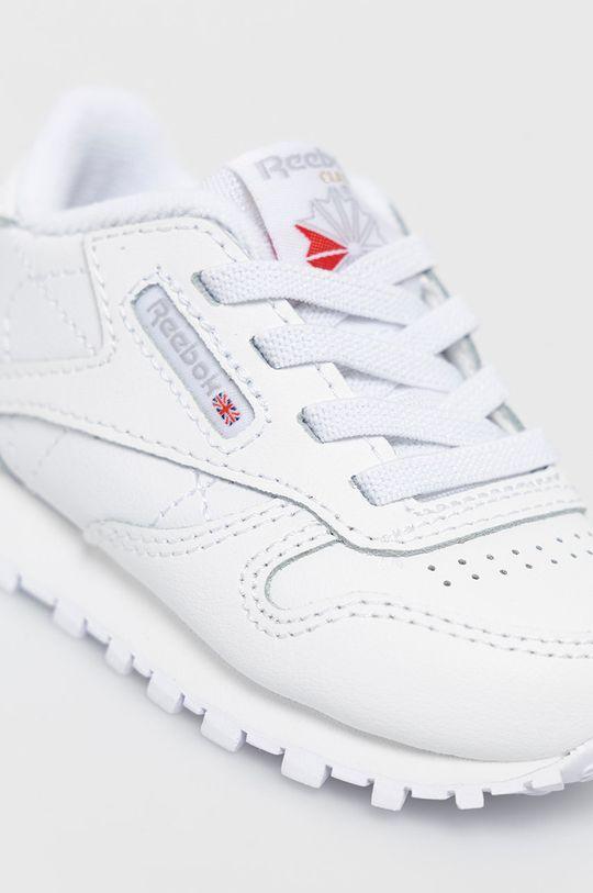 biały Reebok Classic - Buty dziecięce CL LTHR