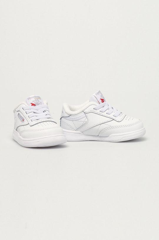 Reebok Classic - Buty skórzane dziecięce Club C biały