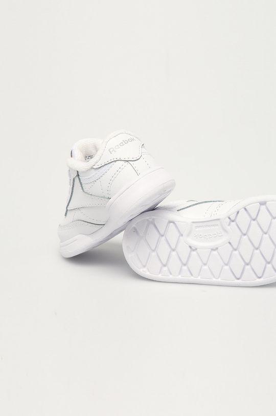biały Reebok Classic - Buty skórzane dziecięce Club C