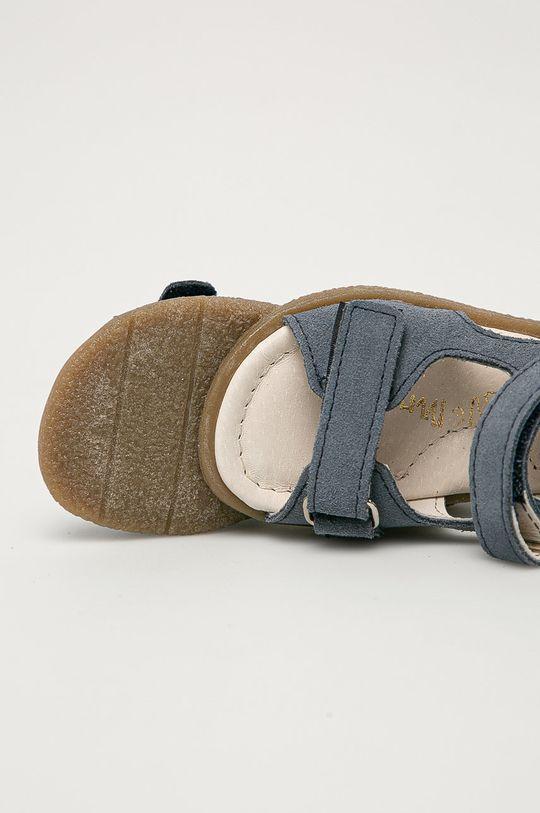 granatowy Mrugała - Sandały skórzane dziecięce z kolekcji urodzinowej