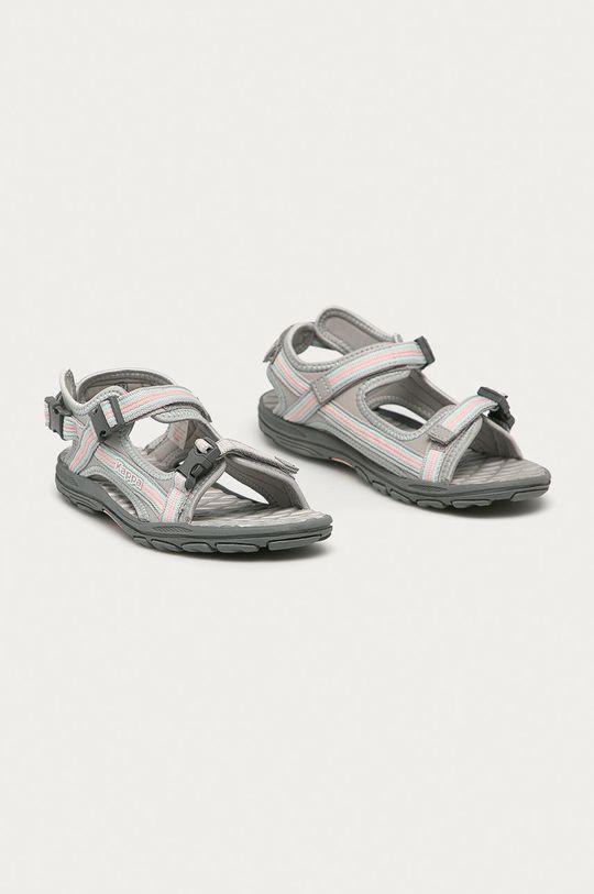 Kappa - Dětské sandály Rusheen světle šedá