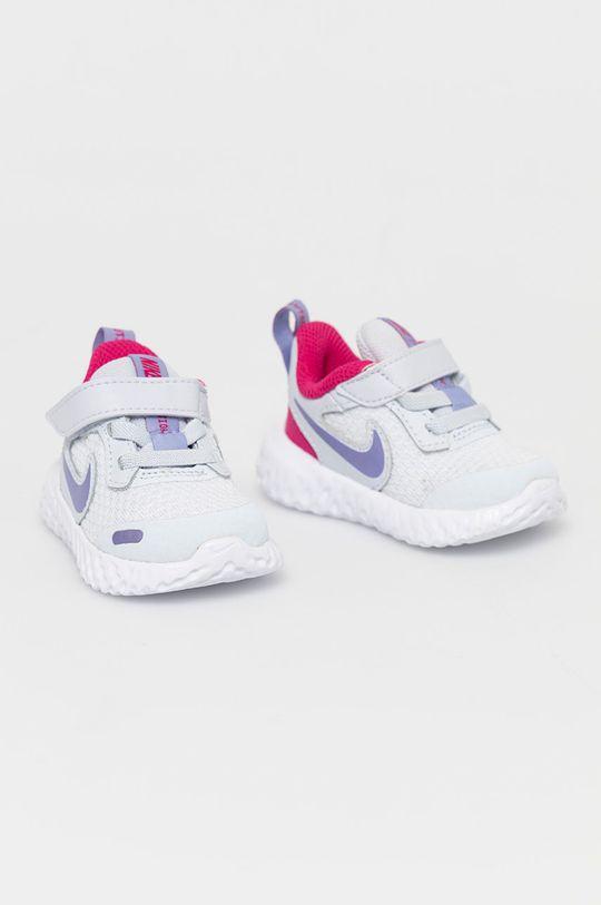 Nike Kids - Dětské boty Revolution 5 světle šedá