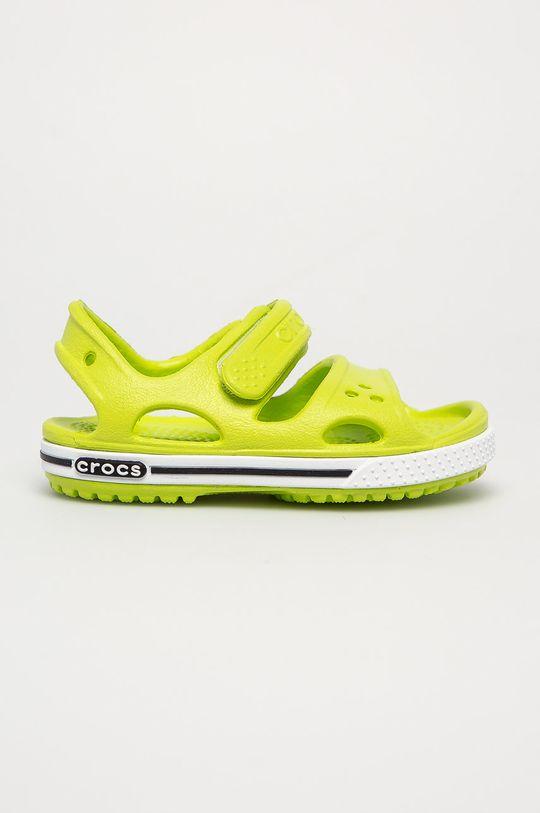 žlutě zelená Crocs - Dětské sandály Dětský