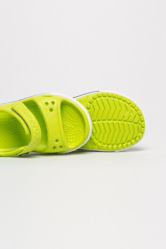 žlutě zelená Crocs - Dětské sandály