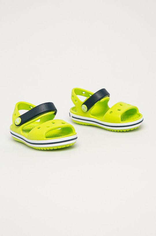 Crocs - Dětské sandály žlutě zelená