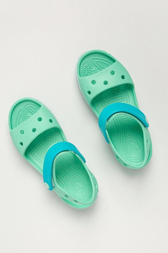světle tyrkysová Crocs - Dětské sandály