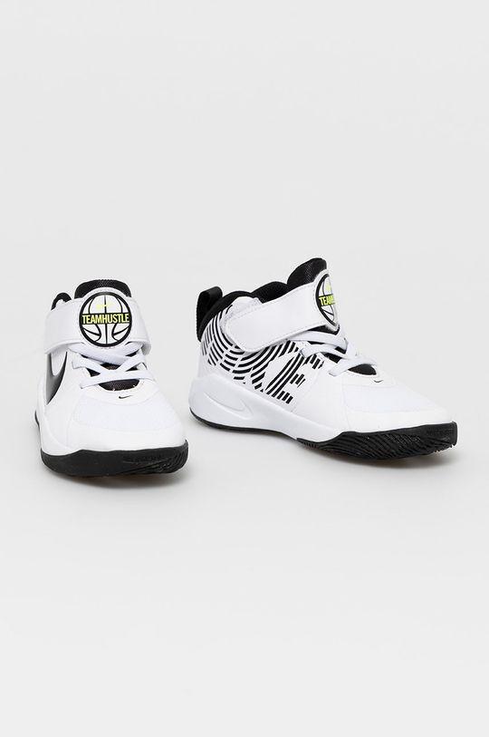 Nike Kids - Pantofi copii Team Hustle D 9 alb