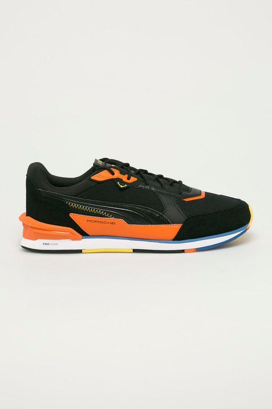 čierna Puma - Topánky Low Racer Pánsky