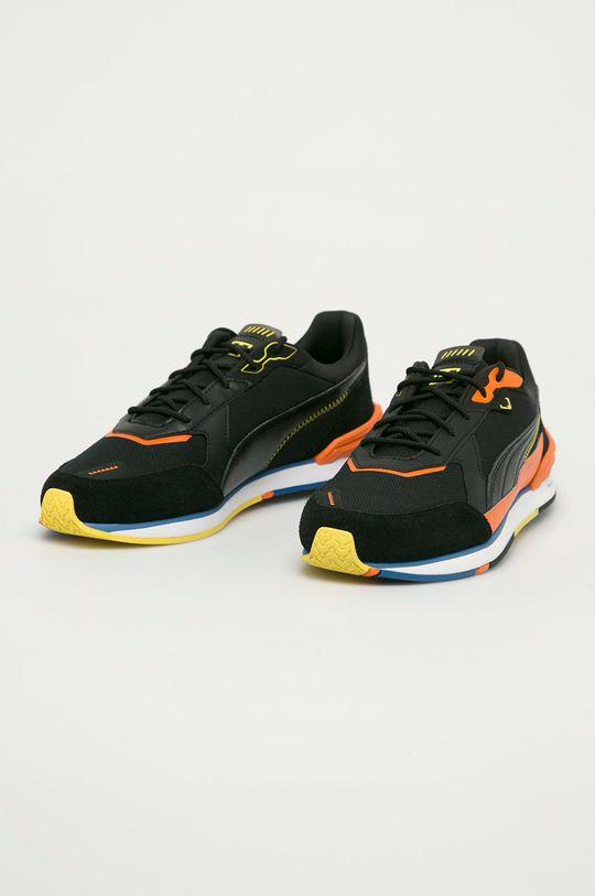 Puma - Topánky Low Racer čierna