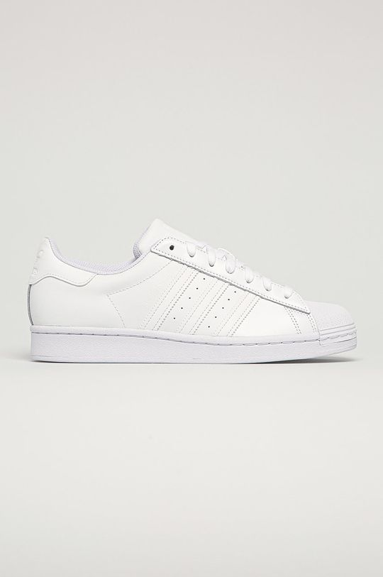 biela adidas Originals - Kožená obuv Superstar Pánsky
