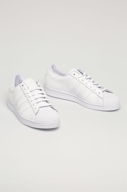 adidas Originals - Kožená obuv Superstar biela