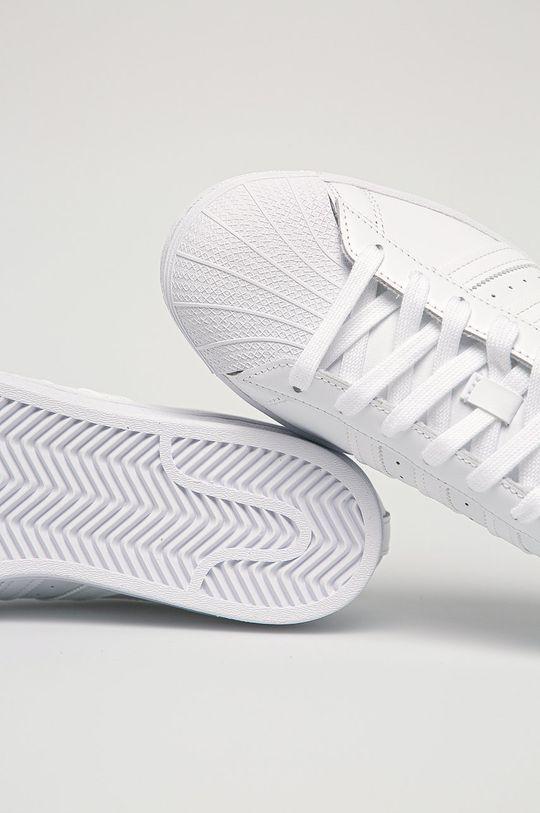 biela adidas Originals - Kožená obuv Superstar