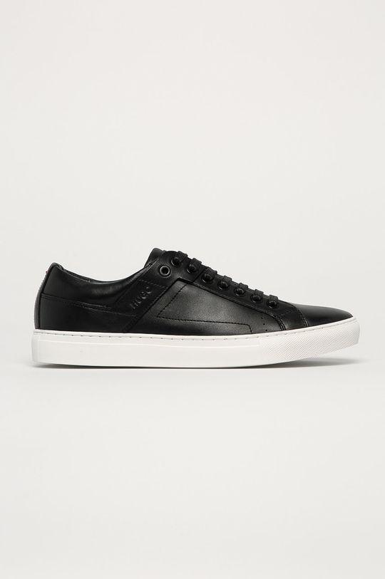 čierna Hugo - Kožená obuv Pánsky