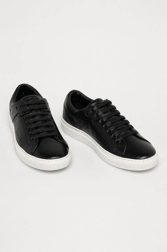 Hugo - Kožená obuv čierna