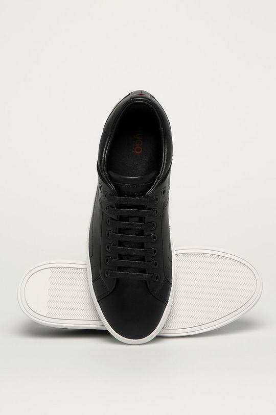 čierna Hugo - Kožená obuv