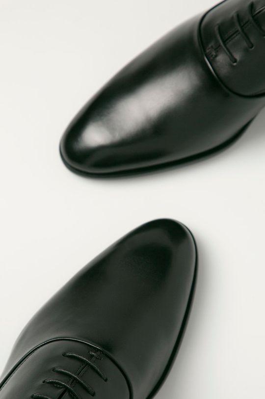 czarny Hugo - Półbuty skórzane