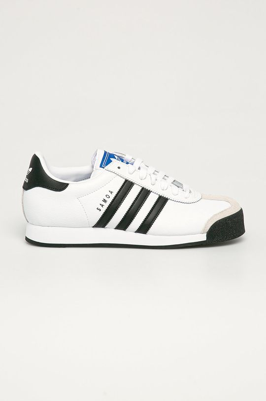 biały adidas Originals - Buty skórzane Samoa Męski