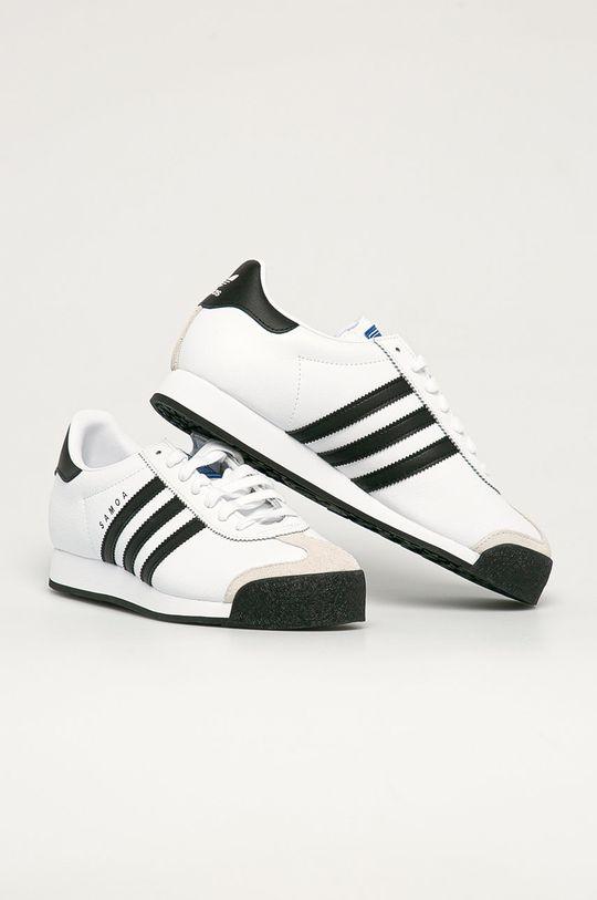 adidas Originals - Buty skórzane Samoa biały