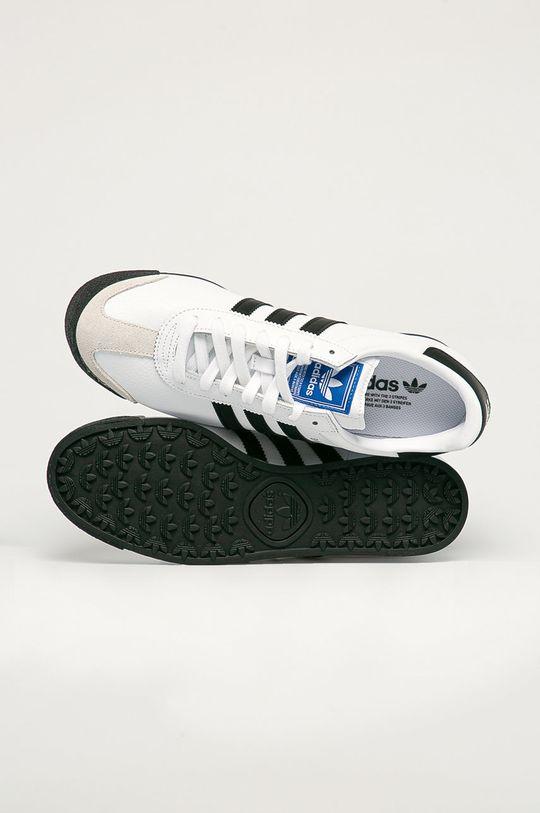 biały adidas Originals - Buty skórzane Samoa