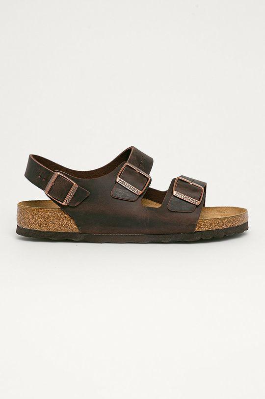 maro Birkenstock - Sandale de piele Milano De bărbați