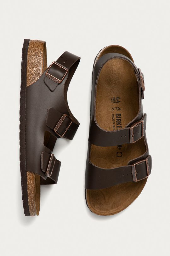 hnedá Birkenstock - Sandále Milano