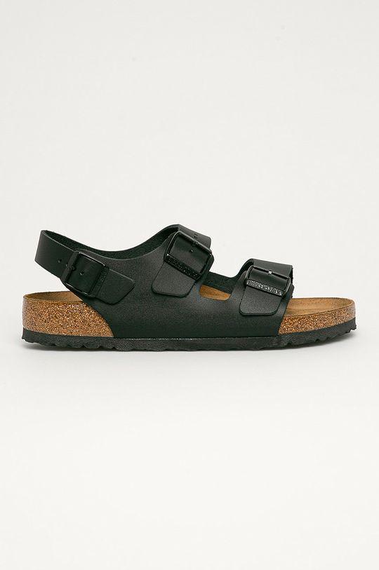 negru Birkenstock - Sandale de piele Milano De bărbați