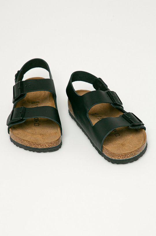 Birkenstock - Sandale de piele Milano negru