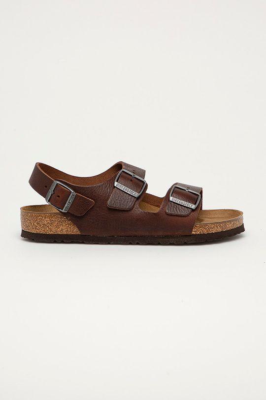 hnedá Birkenstock - Kožené sandále Milano Pánsky