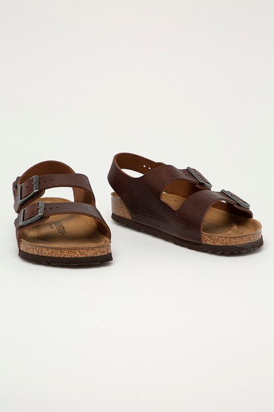 Birkenstock - Kožené sandále Milano hnedá