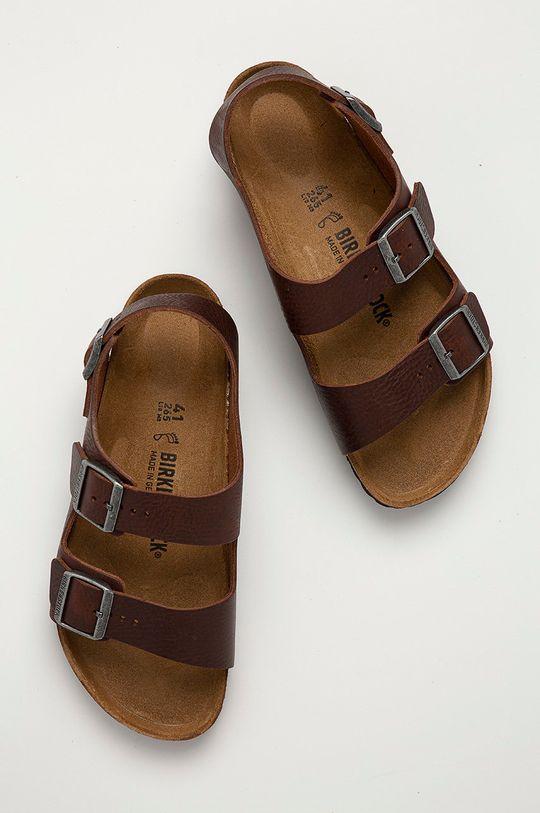 hnedá Birkenstock - Kožené sandále Milano