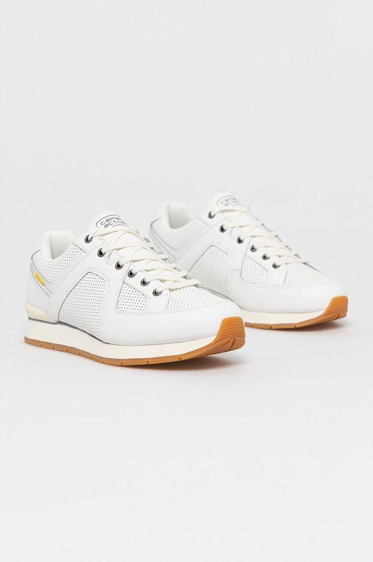 Camel Active - Kožená obuv biela