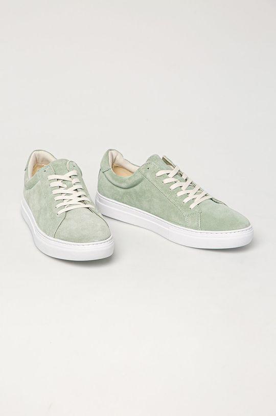 Vagabond - Semišové boty Paul mátová