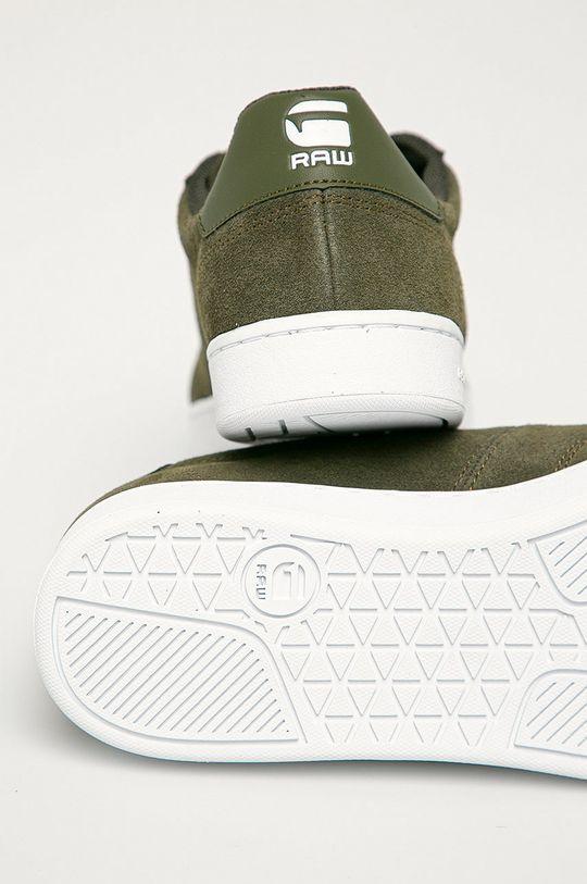 zelená G-Star Raw - Semišové boty