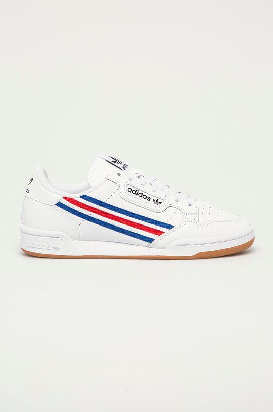 biały adidas Originals - Buty skórzane Continental 80 Męski