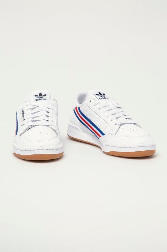 adidas Originals - Buty skórzane Continental 80 biały