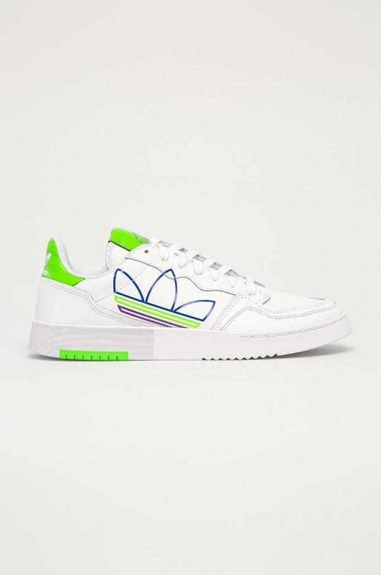 biela adidas Originals - Kožená obuv SUPERCOURT Pánsky