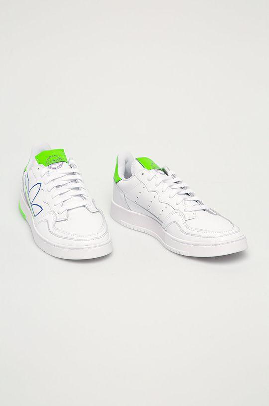 adidas Originals - Kožená obuv SUPERCOURT biela