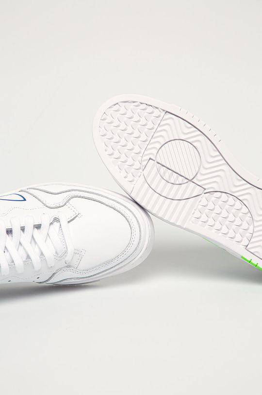 biela adidas Originals - Kožená obuv SUPERCOURT