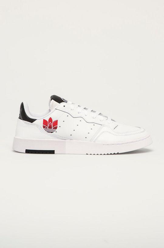 biały adidas Originals - Buty skórzane Supercourt Męski
