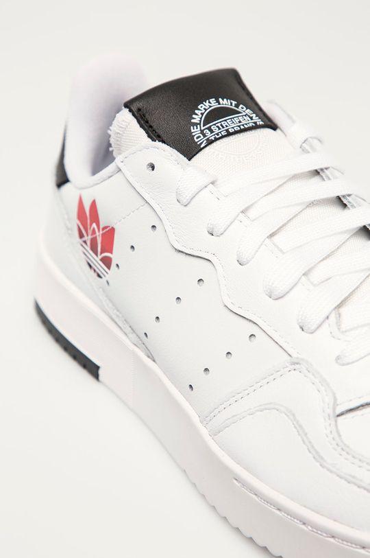 biały adidas Originals - Buty skórzane Supercourt